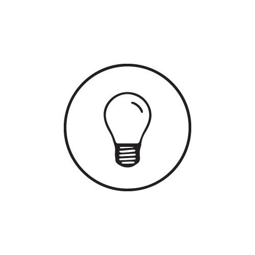 E27 LED filament Polaris 2,5 Watt kogellamp G45 (Vervangt 25W)